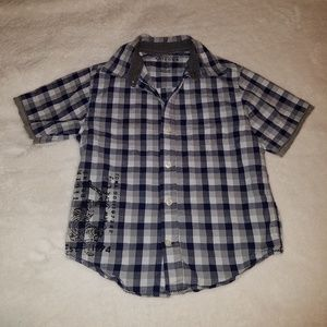 BOYS *SIZE 5*ARIZONA*BUTTON DOWN*PLAID*SHIRT